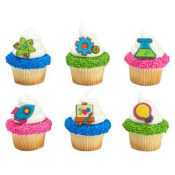 Cake Toppers Inspired Stem Cupcake Rings One Dozen
