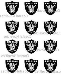 Cake Toppers Oakland Raiders Cupcake Toppers Edible Image 2""