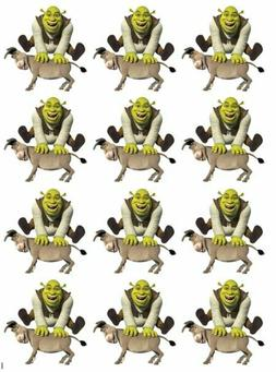 Cake Toppers Shrek Cupcake Toppers Edible Image Shrek and Do