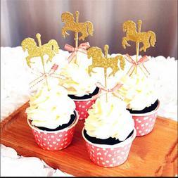 Carousel Cake Topper Kids Birthday Wedding Party Supply Cupc