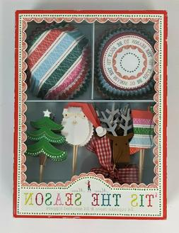 Meri Meri Christmas Holiday Cupcake Kit 24 Cupcake Liners an