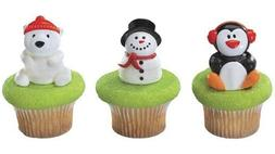 Christmas Party Holiday Friends Cupcake Rings Cake Toppers F