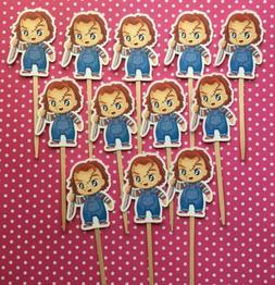 Chucky Halloween Party Set Of 12 Cupcake Toppers