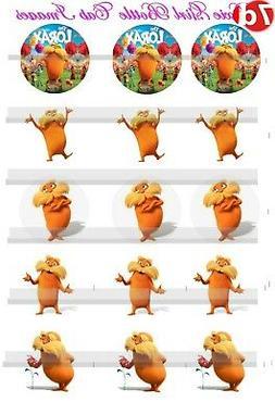 """Dr Seuss The LORAX circle 15-1""""Precut Bottle Cap Images uses"""