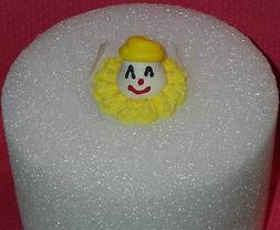 Clown,Circus,Yellow Edible Cupcake Topper, Royal Icing, Cake