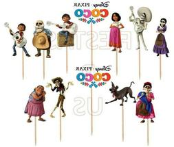 Coco Cupcake Toppers 12 or 24 pc. Coco Party Supplies Cake D