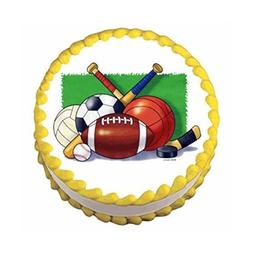 Sports Collage - Edible Cake / Cupcake Topper
