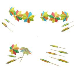 colorful paper umbrellas cocktail parasol picks cupcake