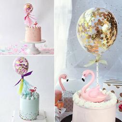 Confetti Balloon Cake Topper Happy Birthday Cupcake Topper F