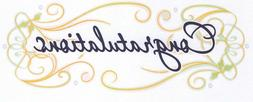 Congratulations Graduation ~ Edible 2D Fondant Cake Cupcake