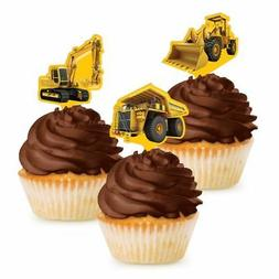 Construction Zone Party Pick Cupcake Decorations