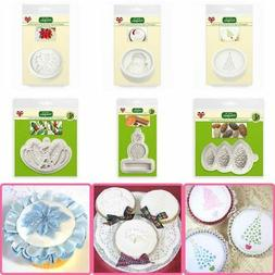 craft cupcake icing silicone moulds toppers christmas