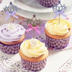 Craft Party Decoration Cake Decor Cupcake Toppers Glitter Cr