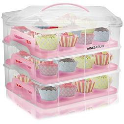 DuraCasa Cupcake Carrier, Cupcake Holder - Store up to 36 Cu