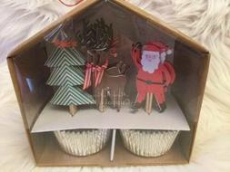 cupcake kit santa reindeer christmas tree 24