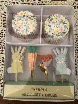 MERI MERI Cupcake Kit Spring, Bunny Liners & Toppers Makes 2