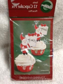 Wilton cupcake Pix Picks Toppers Santa Personalize with Name