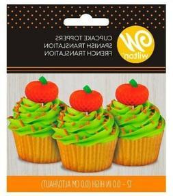 Cupcake Toppers 12/Pkg-Pumpkin - 4 Pack