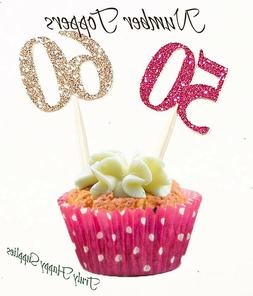 Birthday Cupcake Toppers Any Age 1 2 3 4 13 16 18 20 21st 30