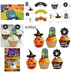 Cupcake Toppers Zombie Hands Pumpkin Cake Topper Wrappers Sp