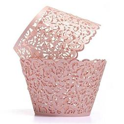 Cupcake Wrappers 50pcs/pack Creamy White Lace Cupcake Liners
