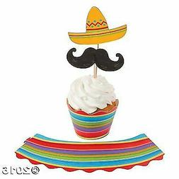 Fun Express Fiesta Cupcake Wrappers with Picks - 150 pcs Mak