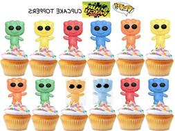 Cute Cupcake Toppers Birthday Party Supplies Favors Large 12