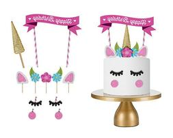 cute handmade unicorn cake cupcake topper decoration