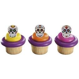Day of the Dead Dia de Muertos Skeleton Cupcake Rings