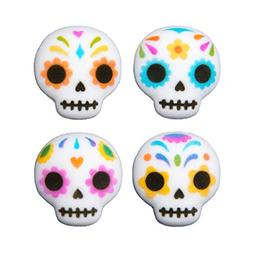 12 Ct. Day of the Dead Edible Sugar Dec-Ons Decorations Cupc