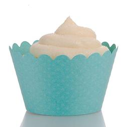 Dress My Cupcake Standard Diamond Aqua Blue Cupcake Wrappers