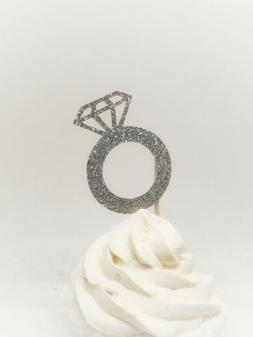 Diamond cupcake toppers, diamond toppers, wedding cupcake to