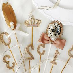 Diamond-studded Cake Topper Cupcake Party Decoration Wedding