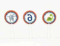 Dinosaur Boy Birthday Cupcake Toppers Picks Reptile Party De
