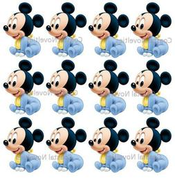 Disney Cake Toppers Baby Mickey Mouse Cupcake Toppers Edible