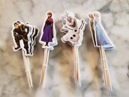 Disney Frozen Elsa Olaf Cupcake Toppers Picks Kids Birthday