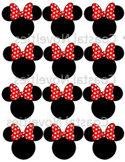 Disney Minnie Mouse Cupcake Toppers Edible Image Minnie Ears