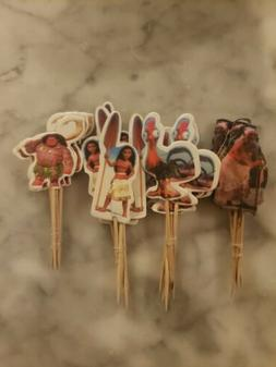 Disney Moana Maui Cupcake Toppers Picks 24pcs Kids Birthday