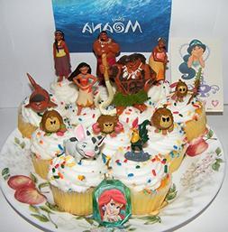 Disney Moana Movie Deluxe Mini Cake Toppers Cupcake Decorati