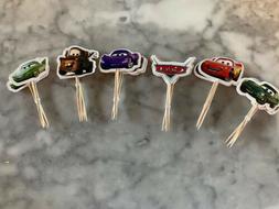 Disney Pixar Cars Lightning McQueen Cupcake Toppers Picks Bi