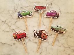 Disney Pixar Cars McQueen Cupcake Toppers Kids Birthday Part