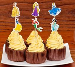 Disney Princess Cupcake Double-Sided Toppers Party Decoratin