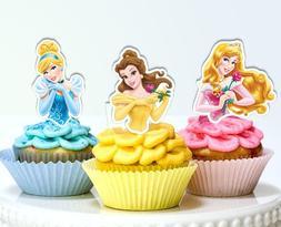 Disney Princesses Half Body Edible Wafer Cupcake Cake Topper