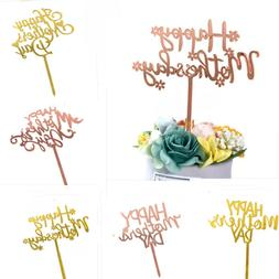 DIY Happy Mother's Day Cake Topper Acrylic Cupcake Toppers L