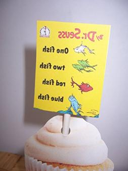 Dr. Seuss Cupcake Toppers-Set of 24