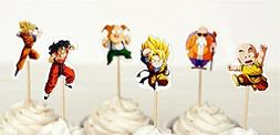 Dragon Ball Z Dessert Cupcake Toppers for Birthday Party