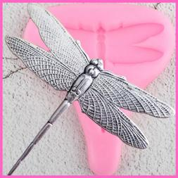 Dragonfly Silicone Mould Resin Clay Molds Cupcake Topper Cak