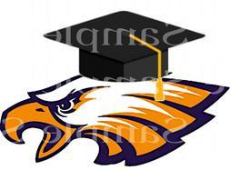 eagle mascot graduation edible 2d fondant cake