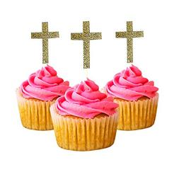 Easter Cross first communion Cupcake Topper card stock Color