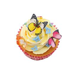 "GEORLD Set of 48 Piece 1.77"" Edible Butterflies Cake & Cupca"